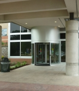 Exterior-view-of-revolving-door